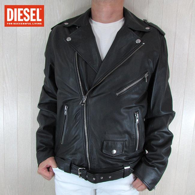 ディーゼル DIESEL ジャケット メンズ レザージャケット 本革 レザー R-LUMENIROK / 900 / ブラック 黒 サイズ:XXL