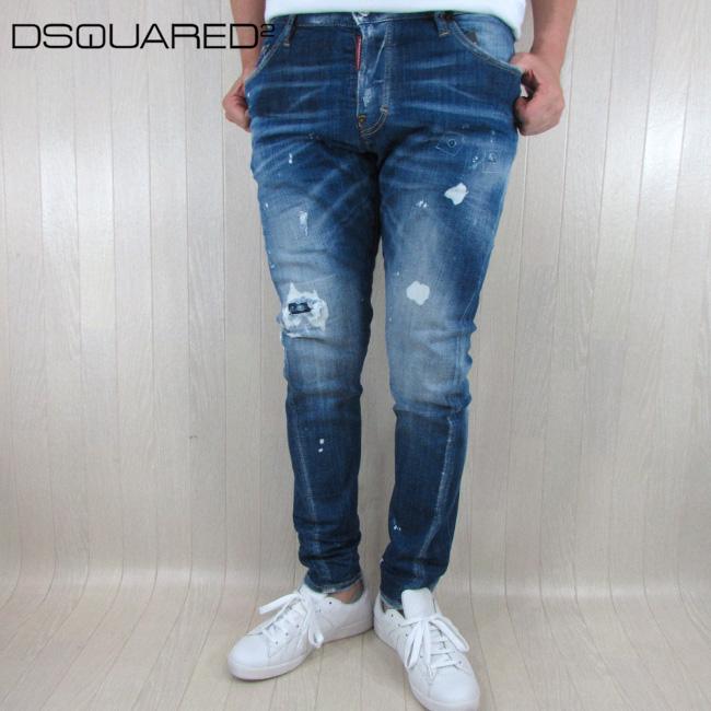 ディースクエアード DSQUARED2 デニム ジーンズ メンズ デニムパンツ S71LB0489 / 470 / ブルー 青 サイズ:46~50