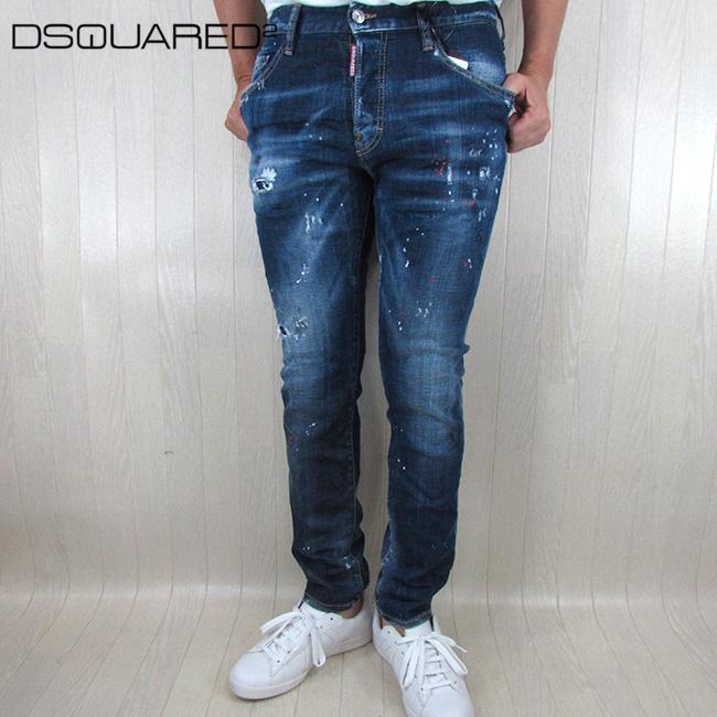 ディースクエアード DSQUARED2 デニム メンズ ジーパン ボトムス ボタンフライ S74LB0593 / 470 / ブルー 青 サイズ:44~48