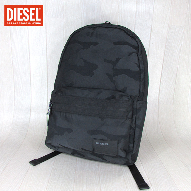 ディーゼル DIESEL メンズ バッグ リュック ユニセックス 鞄 X06264 P2084 / T8013 / ブラックカモ