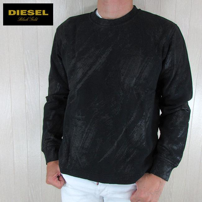 ディーゼル ブラックゴールド DIESEL BLACK GOLD メンズ プルオーバー スウェット トレーナー SDIKILO-LF / 900 / ブラック 黒 サイズ:S/M/L