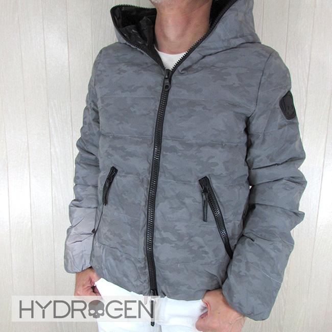 ハイドロゲン HYDROGEN メンズ ダウンジャケット ディオニシオ リクレクター素材 スカル カモフラ アウター 25D001 / C98 / シルバーカモ サイズ:46~54