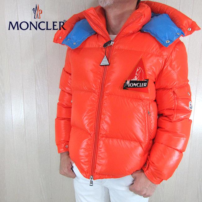 モンクレール MONCLER メンズ ダウンジャケット ダウン フード付き アウター 4191005 68950 / 326 / オレンジ サイズ:2/3/4