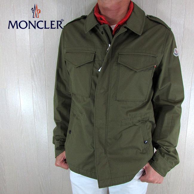 モンクレール MONCLER メンズ ナイロンジャケット ベスト 2way 4173085 5499J / 891 / カーキ サイズ:1~6
