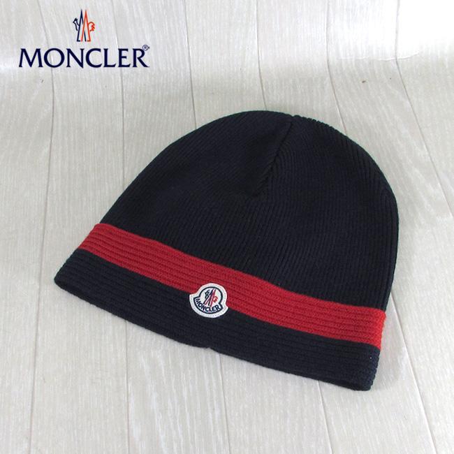 モンクレール MONCLER ニットキャップ ニット帽 ビーニー 帽子 9922005 969BT / 778 / ネイビー 紺 サイズ:L