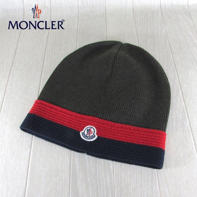 ニット帽 MONCLER モンクレール 969BT カーキ / 帽子 / ニットキャップ 886 ビーニー サイズ:L 9922005