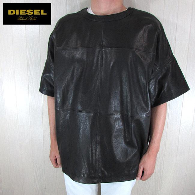 ディーゼル ブラックゴールド DIESEL BLACK GOLD ジャケット メンズ レザーカットソー LAPPEL / 900 / ブラック 黒 サイズ:46/48