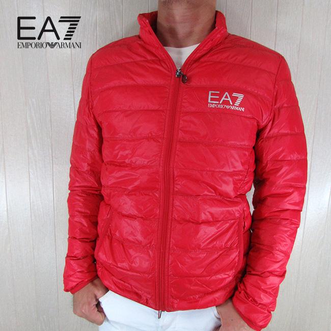 エンポリオアルマーニ EA7 EMPORIO ARMANI メンズ ダウン ジャケット 8NPB01 PN29Z / 1451 / レッド 赤 サイズ:S~3XL