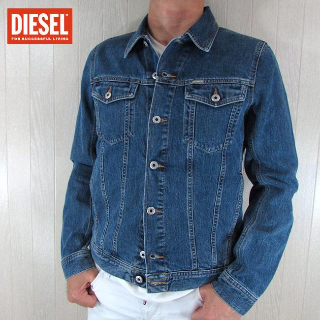 ディーゼル DIESEL メンズ ブルゾン ジャケット デニムジャケット R-ELSHAR-XP / 043 / ブルー 青 サイズ:S~XL