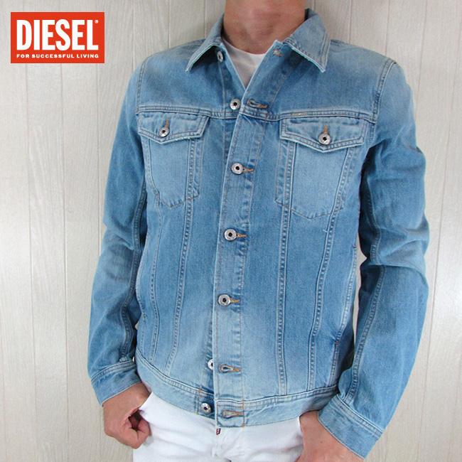 ディーゼル DIESEL メンズ ブルゾン ジャケット デニムジャケット R-ELSHAR-XP / 551 / ライトブルー 青 サイズ:S~XL