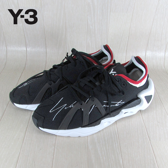 Y-3 ADIDAS YOHJI YAMAMOTO ワイスリー アディダス ヨウジヤマモト スニーカー メンズ レザー シューズ 本革 EF2627 / ブラック 黒 サイズ:UK7~UK9.5
