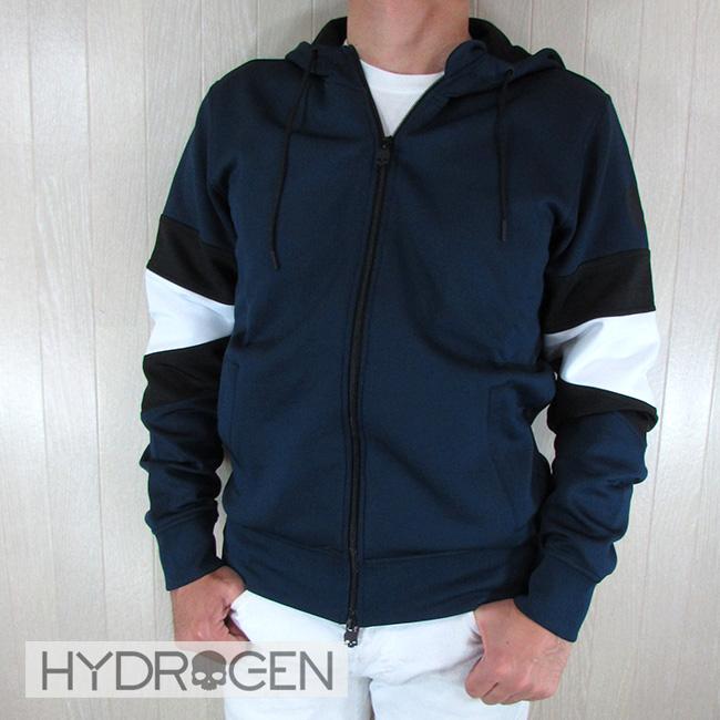 ハイドロゲン HYDROGEN メンズ ジップパーカー ジャージー素材 250624 / 013 / ネイビーサイズ:S~XL