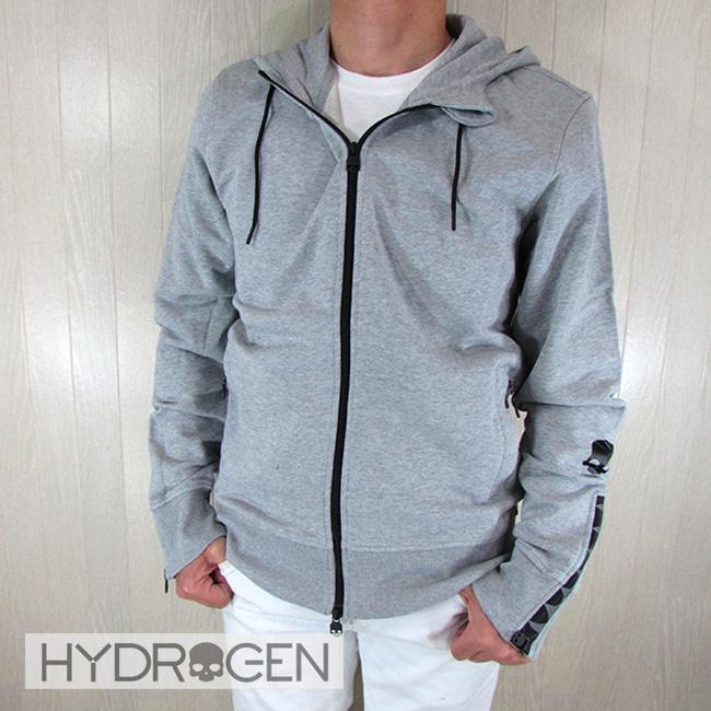 ハイドロゲン HYDROGEN メンズ ジップアップパーカー 250606 / 015 / グレーサイズ:S~XXL