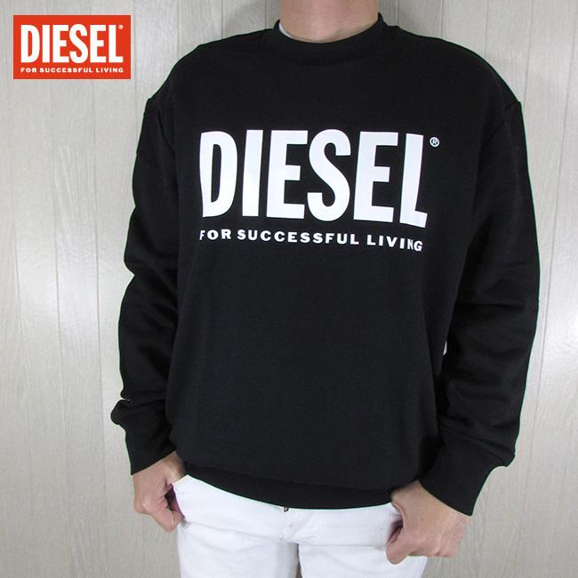 ディーゼル DIESEL メンズ プルオーバー スウェット S-CREW-DIVISION-LOGO / 900 / ブラック 黒 サイズ:S~XXL