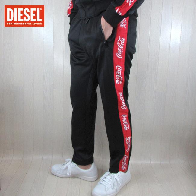 ディーゼル DIESEL メンズ ジャージ パンツ CC-P-SKA-COLA / 900 / ブラック 黒 サイズ:S~XL