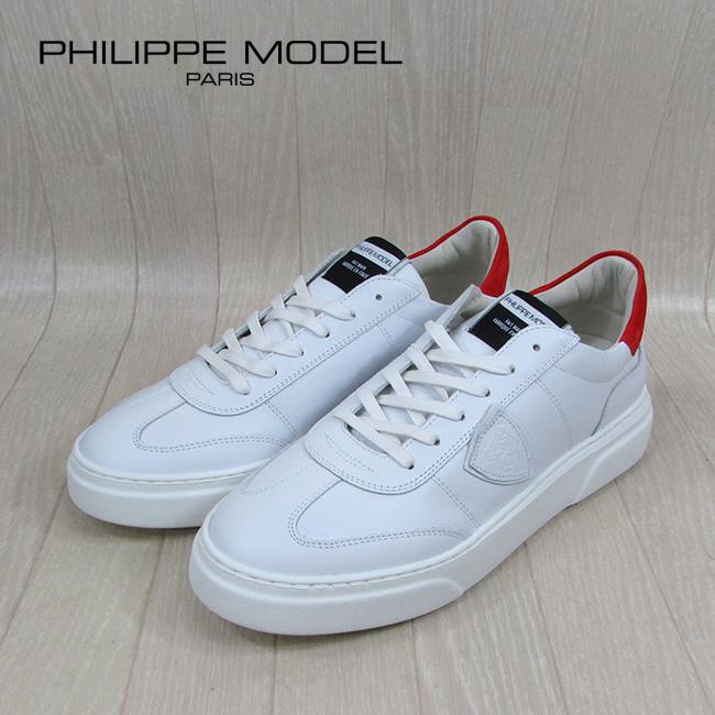 フィリップモデル PHILIPPE MODEL メンズ ローカット スニーカー BALU / V022 / ホワイト 白 サイズ:43