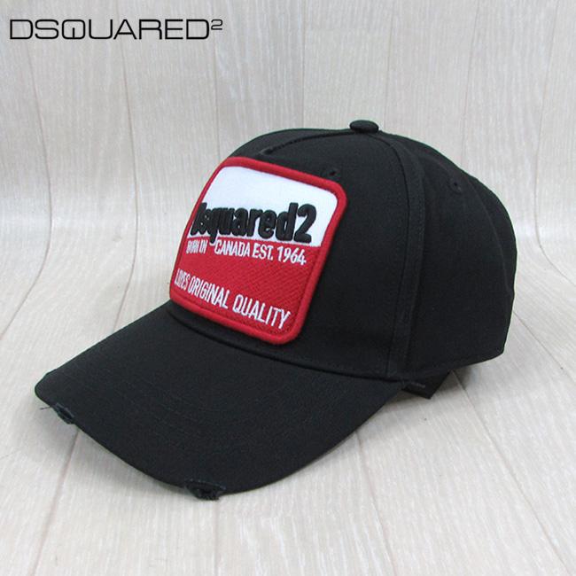 ディースクエアード DSQUARED2 キャップ 男女兼用 ユニセックス BCM0276 05C00001 / 2124 / ブラック 黒