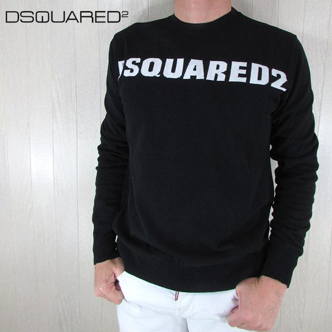 ディースクエアード DSQUARED2 メンズ ロゴ 長袖 セーター S71HA0903 / 973 / ブラック 黒 サイズ:S~XL