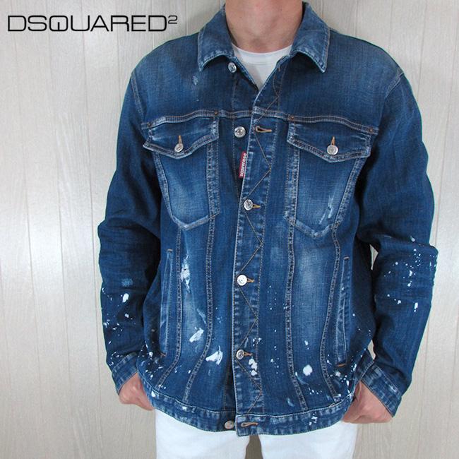 ディースクエアード DSQUARED2 メンズ デニムジャケット ブルゾン Gジャン S71AN0064 / 470 / ブルー サイズ:S~XL