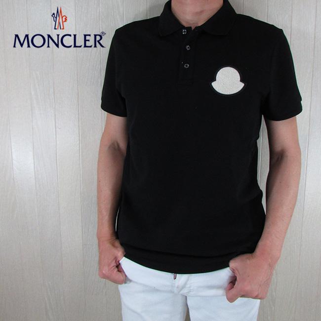 モンクレール MONCLER メンズ ポロシャツ 半袖 トップス 8A70400 84556 / 999 / ブラック 黒 サイズ:S~XL