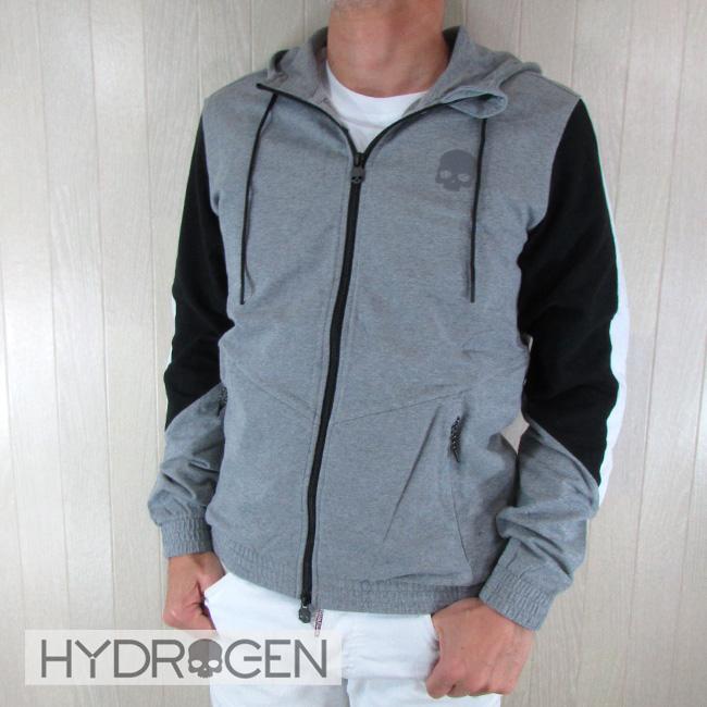 ハイドロゲン HYDROGEN メンズ ジップアップパーカー 265600 / 015 / グレー サイズ:S~3XL