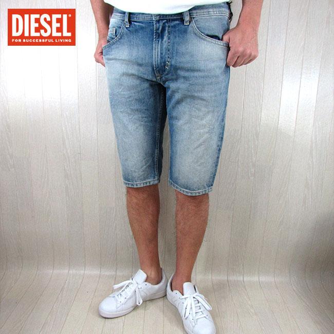 ディーゼル DIESEL メンズ ショートパンツ 短パン THASHORT 0PALU / 01 / ブルー サイズ:30