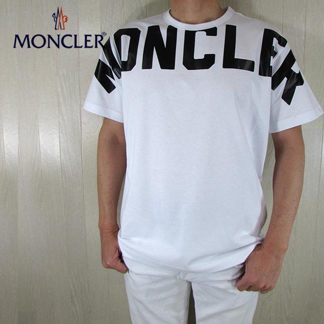 モンクレール MONCLER メンズ Tシャツ 半袖 8C70410 8390T / 001 / ホワイト 白 サイズ:M/L/XL