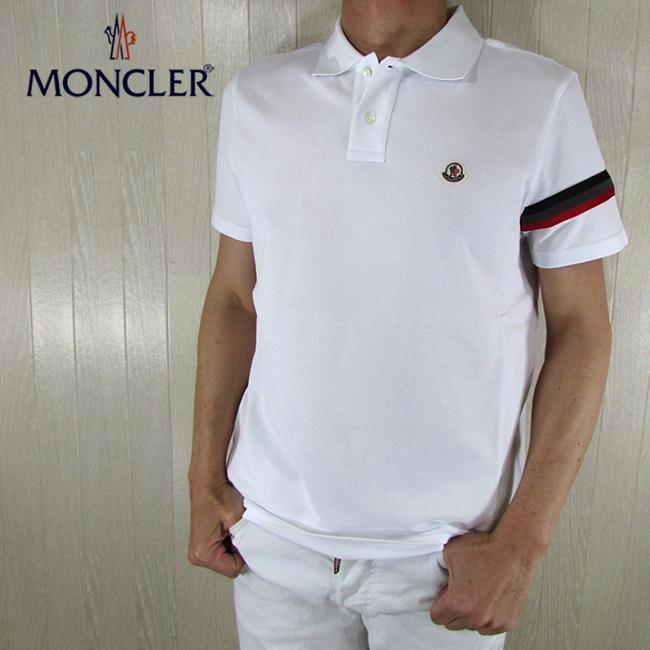 モンクレール MONCLER メンズ 半袖 ポロシャツ MAGLIA POLO MANICA C 8A70900 84556 / 1 / ホワイト 白 サイズ:S~XL