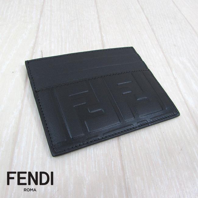 フェンディ FENDI カードケース 名刺入れ レザー HOLDER VIT 7M0164 A18A F0SAJ / ブラック 黒