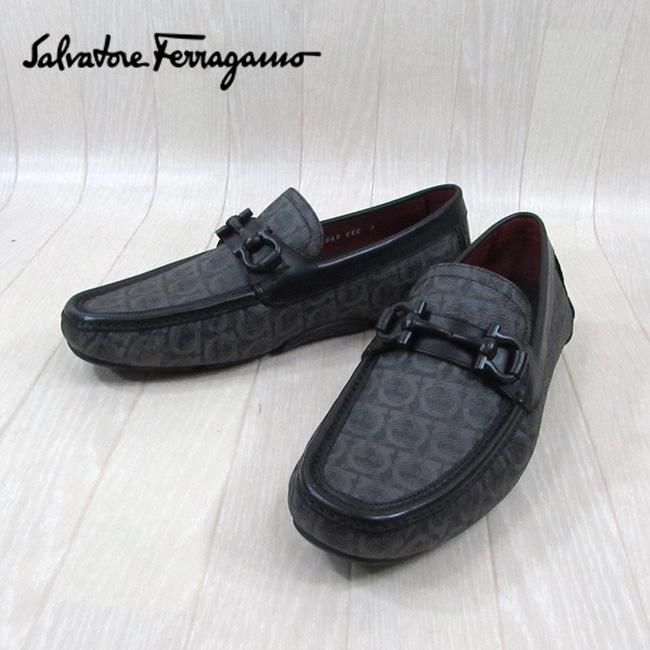 サルヴァトーレフェラガモ SALVATORE FERRAGAMO メンズ ローファー シューズ 靴 PARIGI 19 0718404 EEE / GRIGIO NERO CALF / ブラック 黒 サイズ:6.5~9