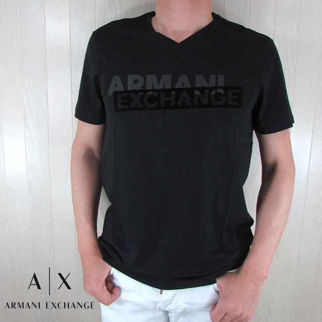 2020 春夏 モデル ランキングTOP5 送料無料 アルマーニエクスチェンジ アルマーニ Tシャツ メンズ トップス 丸首 クルーネック ロゴ 黒 半袖 3HZTBF Armani X Exchange 1200 サイズ:S~XXL A 未使用品 ブラック ZJA5Z