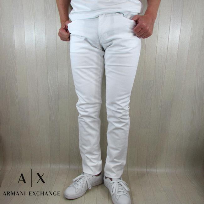 アルマーニエクスチェンジ A/X Armani Exchange メンズ パンツ コットンパンツ ホワイトデニム 8NZJ13 Z3CAZ / 1100 / ホワイト 白 サイズ:30~36