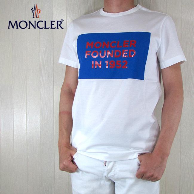モンクレール MONCLER メンズ 半袖 Tシャツ MAGALIA T-SHIRT 8C74610 8390Y / 001 / ホワイト 白 サイズ:S~XL