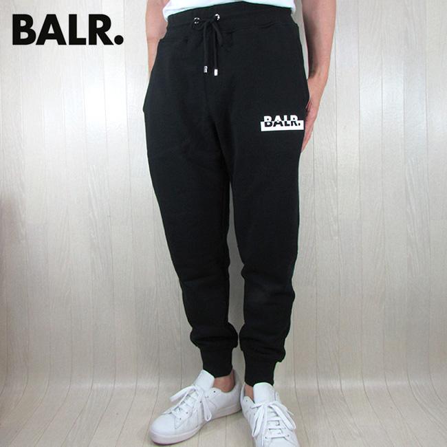 ボーラー BALR. ジョガーパンツ Contrasting logo straight sweatpants コントラスティングロゴ ストレートパンツ ロングパンツ B10048 / ブラック 黒 サイズ:M/XL
