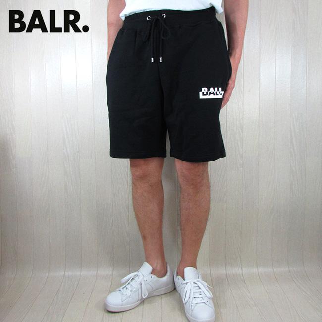 ボーラー BALR. ショートパンツ Contrasting logo straight shorts コントラスティングストレートショーツ B10049 / ブラック 黒 サイズ:L/XL
