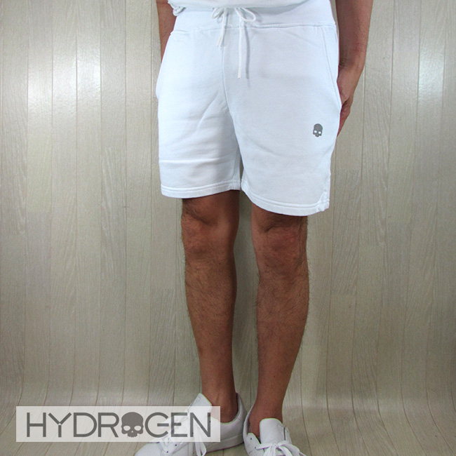 ハイドロゲン HYDROGEN スウェットハーフパンツ メンズ 260120 / 001 / ホワイト 白 サイズ:S/M/L