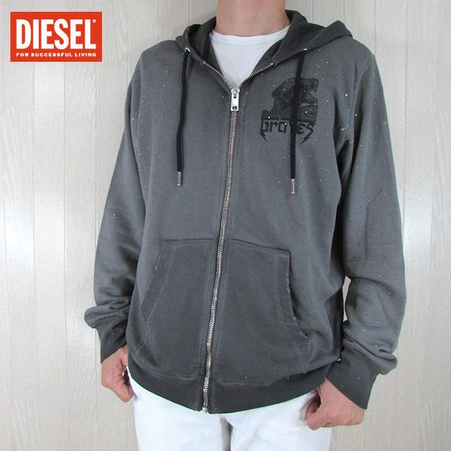 ディーゼル DIESEL メンズ スウェットパーカー ジップパーカー S-TRUSHER / 900 / グレー サイズ:S/M/L