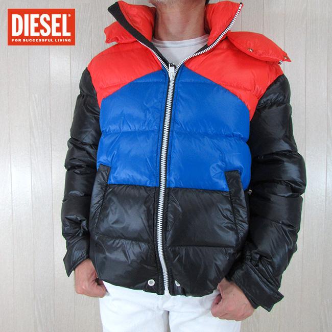 ディーゼル DIESEL メンズ ダウンジャケット ブルゾン W-SMITH / 900A / ブラック 黒 サイズ:L
