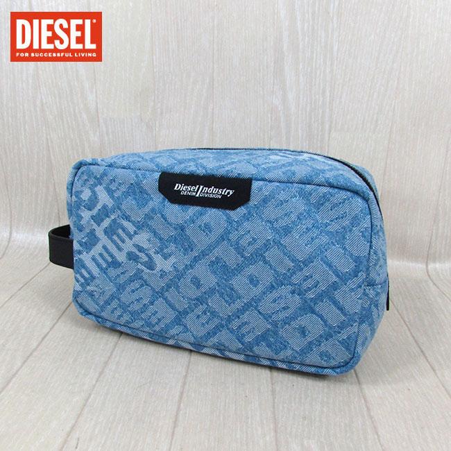コスメケース / 小物入れ DIESEL / ポーチ トラベルポーチ ブルー P2514 ディーゼル X06286 H4865