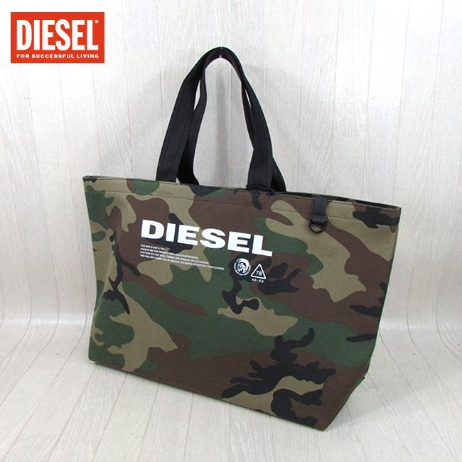 手提げバッグ / カモフラ DIESEL H3845 迷彩 トートバッグ カモフラージュ メンズ ディーゼル X05513 / PS536