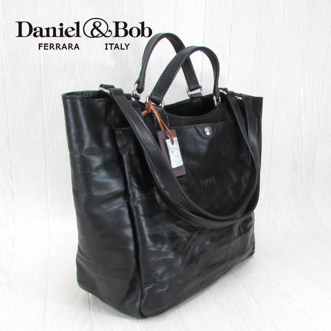 Daniel&Bob ダニエル&ボブ DAB P228 1836 99バッグ 2Way ショルダー トート CERCATORE RODI レザー 本革 鞄 カバン/ブラック