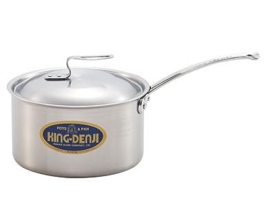 プロ仕様|片手鍋 | IH オール熱源 匠の技 ・ 21cm(4.0L) | ・ | 日本製 対応|目盛付 国産
