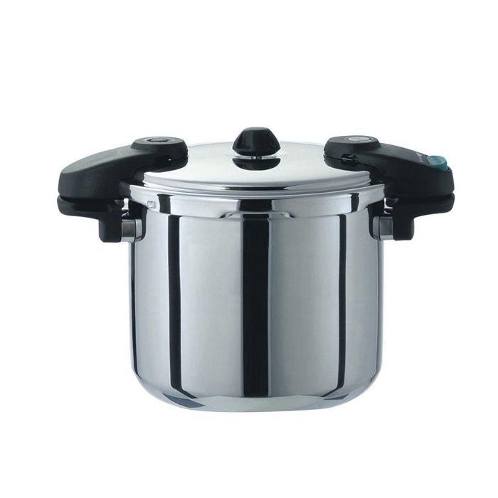10%OFFクーポン有 プロ仕様 業務用 圧力鍋 オール熱源対応 ( 200V 対応 )  両手 圧力鍋 8.0L 3層構造 で 蓄熱性 抜群!