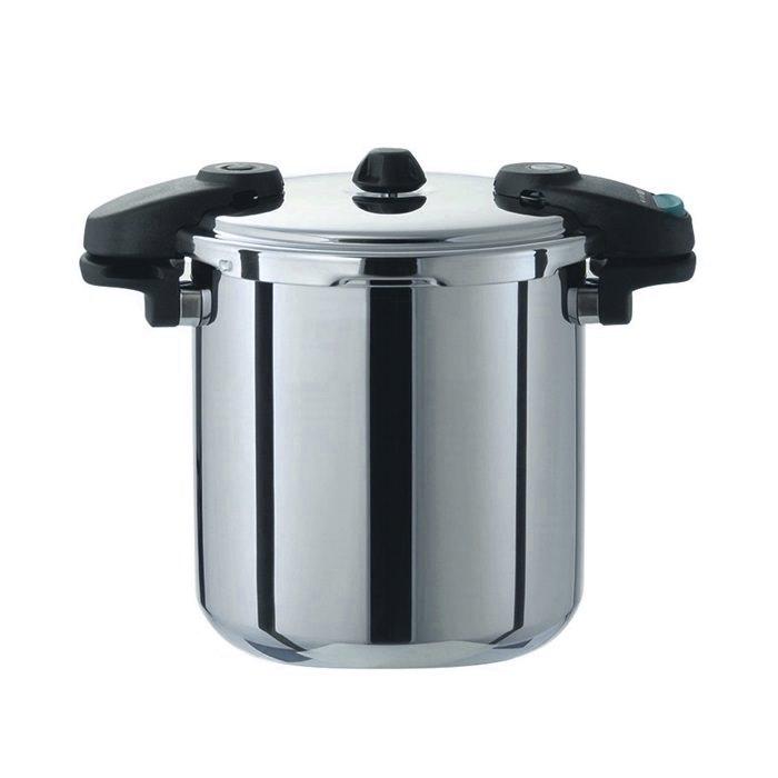 プロ仕様 業務用 圧力鍋 オール熱源対応 ( 200V 対応 )  両手 圧力鍋 10L 3層構造 で 蓄熱性 抜群!