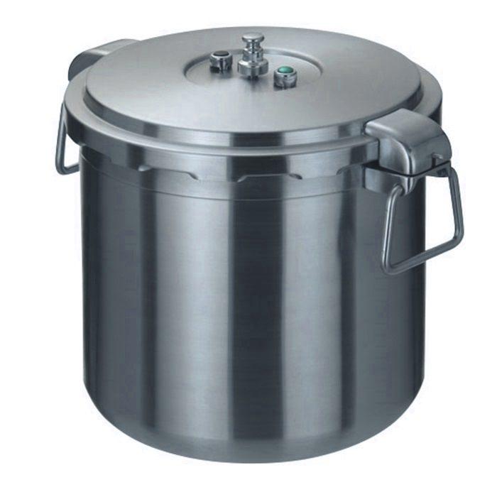 プロ仕様 業務用 圧力鍋 オール熱源対応 ( 200V 対応 )  両手 圧力鍋 30L 3層構造 で 蓄熱性 抜群!
