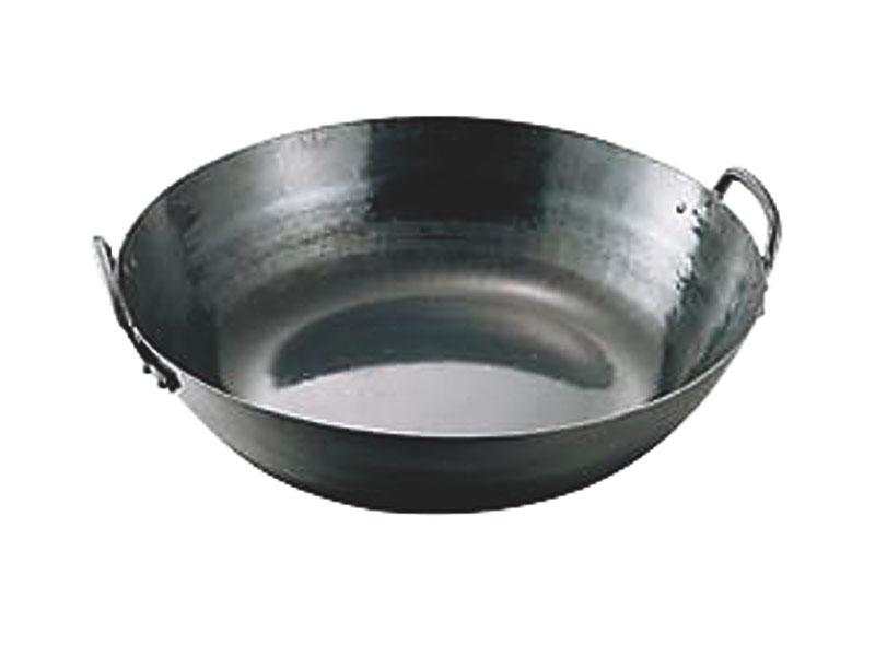 『 鉄 打出 天ぷら 鍋 42cm ( 9.0L ) 』 耐久性 抜群 プロ仕様 業務用 可 日本製 国産