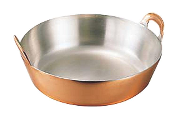 『 一流料理人 ( プロ ) が選ぶ 高品質 銅 製 天ぷら 鍋 42cm ( 10.0L ) 』 厚板 仕様 耐久性 ・ 蓄熱性 抜群! 業務用 可 日本製 国産
