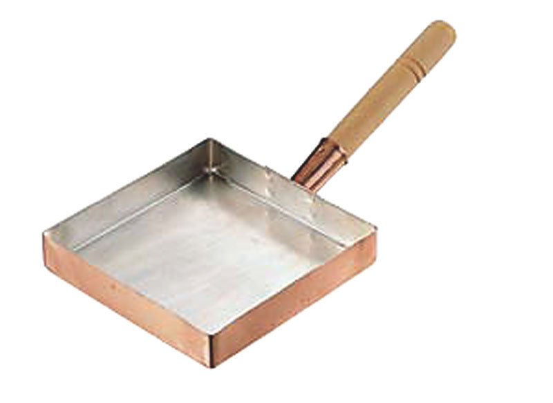 【5の付く日限定クーポン付】 卵焼き が ふんわり上手にできる 銅 製 玉子焼 器 『 関東型 ( 30cm ) 』 プロ仕様 業務用 可 日本製 国産