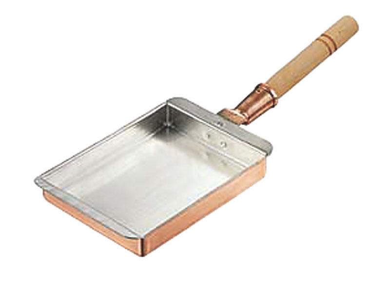 卵焼き が ふんわり上手にできる 銅 製 玉子焼 器 『 関西型 ( 22.5cm ) 』 プロ仕様 業務用 可 日本製 国産