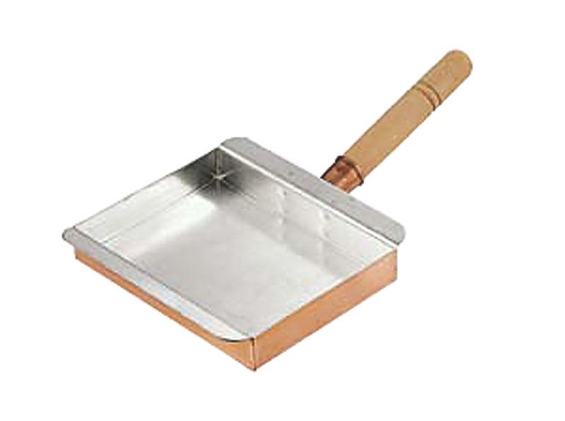 クーポンで23%OFF 卵焼き が ふんわり上手にできる 銅 製 玉子焼 器 『 名古屋型 ( 22.5cm ) 』 プロ仕様 業務用 可 日本製 国産